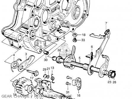 Honda Ca110 1962 Usa Gear Change   Right Crankcase