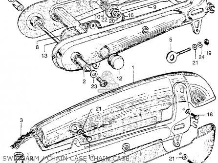 Honda Ca110 1962 Usa Swingarm   Chain Case Chain Case