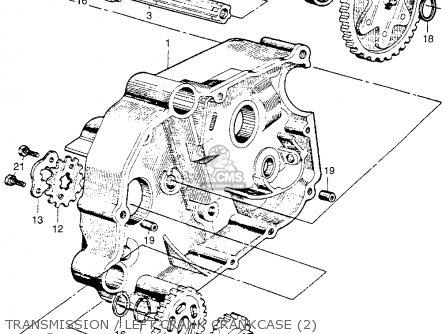 Honda Ca110 1962 Usa Transmission   Left Crank Crankcase 2