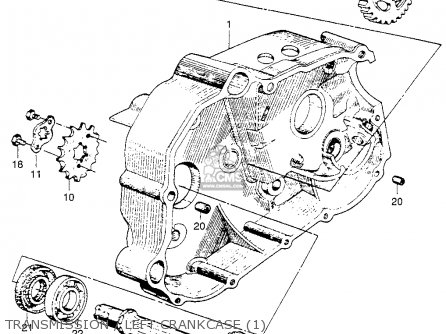 Honda Ca110 1962 Usa Transmission   Left Crankcase 1
