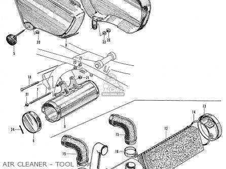 Honda Ca160 Touring 1966 Usa Air Cleaner - Tool Box