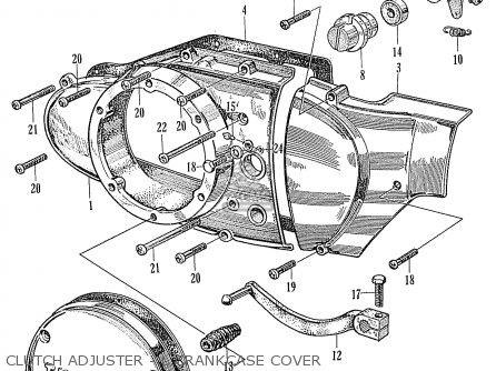 Honda Ca160 Touring 1966 Usa Clutch Adjuster - L crankcase Cover