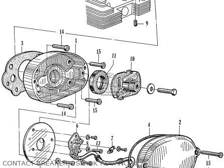 Honda Ca160 Touring 1966 Usa Contact Breaker - Spark Advancer
