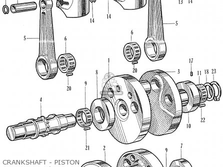 Honda Ca160 Touring 1966 Usa Crankshaft - Piston