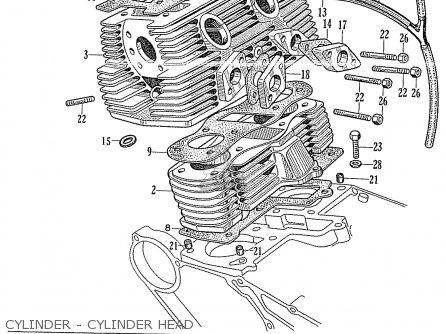 Honda Ca160 Touring 1966 Usa Cylinder - Cylinder Head