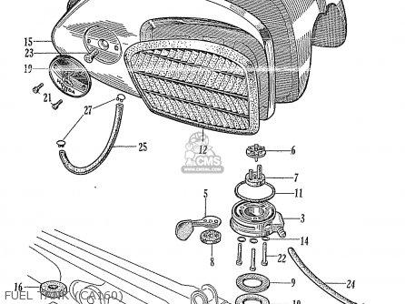 Honda Ca160 Touring 1966 Usa Fuel Tank ca160