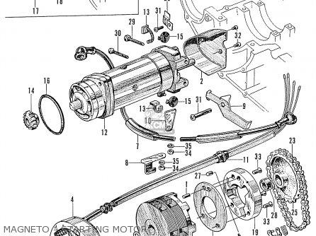 Honda Ca160 Touring 1966 Usa Magneto - Starting Motor