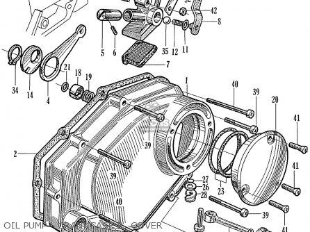 Honda Ca160 Touring 1966 Usa Oil Pump - Crankcase R  Cover
