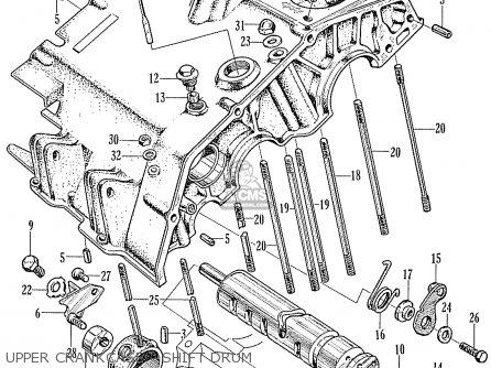 Honda Ca160 Touring 1966 Usa Upper Crankcase - Shift Drum
