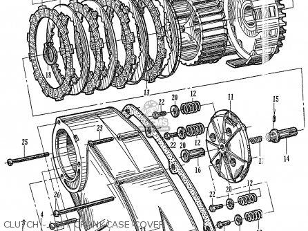 Honda Ca77 1960 1961 1962 1963 1964i 1964ii 1964iii Dream Usa 142592 Clutch - Left Crankcase Cover