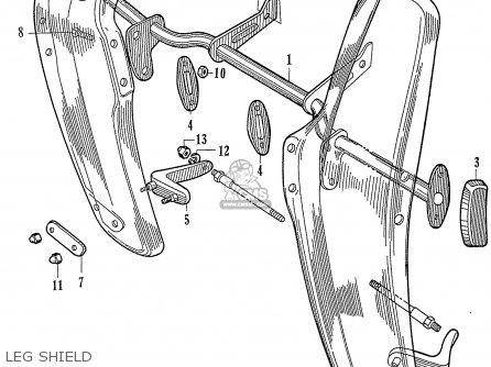 Honda Ca77 1960 1961 1962 1963 1964i 1964ii 1964iii Dream Usa 142592 Leg Shield