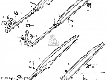 Honda Ca77 1960 1961 1962 1963 1964i 1964ii 1964iii Dream Usa 142592 Muffler - Exhaust