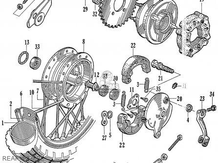 Honda Ca77 1960 1961 1962 1963 1964i 1964ii 1964iii Dream Usa 142592 Rear Wheel
