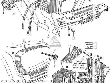 Honda Ca77 Dream Touring 305 Usa 142592 Air Cleaner - Tool Case - Tool