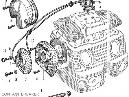 Honda Ca77 Dream Touring 305 Usa 142592 Contact Breaker