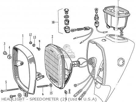 Honda Ca77 Dream Touring 305 Usa 142592 Headlight - Speedometer 2 usd In U s a