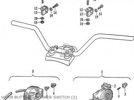 Honda Ca77 Dream Touring 305 Usa 142592 Horn Button - Winker Switch 2