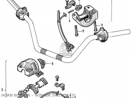 Honda Ca77 Dream Touring 305 Usa 142592 Horn Button - Winker Switch 3