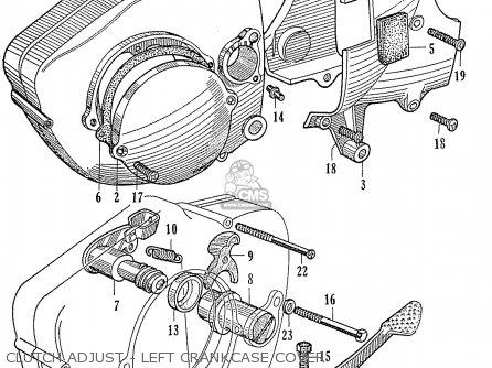 Honda Ca95 Benly  Usa 1320003 Clutch Adjust - Left Crankcase Cover