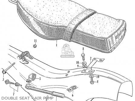 Honda Ca95 Benly  Usa 1320003 Double Seat - Air Pump