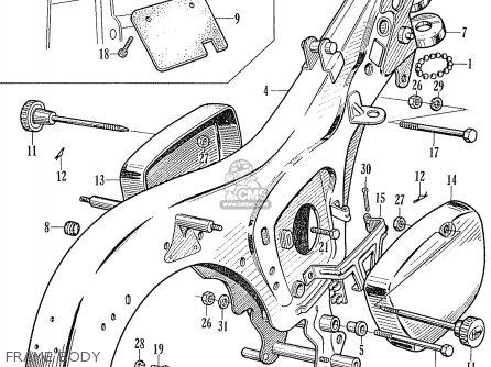 Honda Ca95 Benly  Usa 1320003 Frame Body