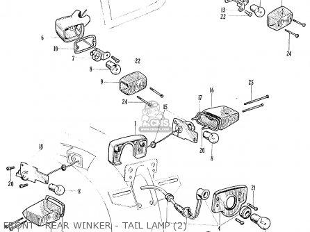 Honda Ca95 Benly  Usa 1320003 Front - Rear Winker - Tail Lamp 2