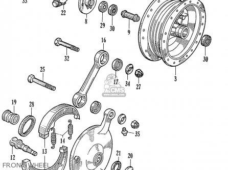 Honda Ca95 Benly  Usa 1320003 Front Wheel