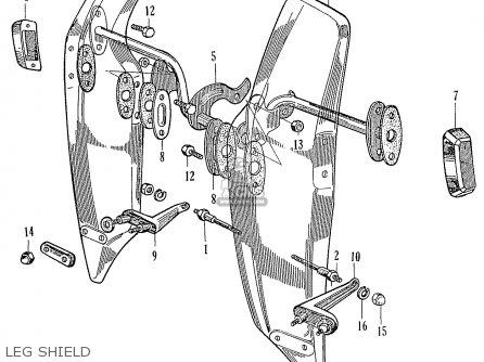 Honda Ca95 Benly  Usa 1320003 Leg Shield