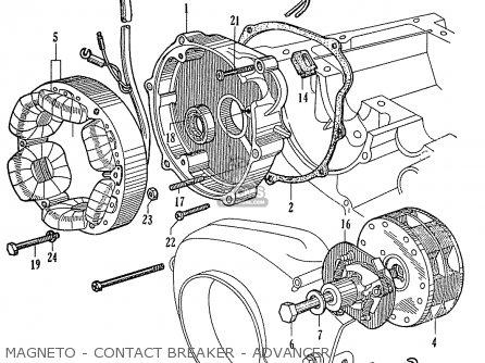 Honda Ca95 Benly  Usa 1320003 Magneto - Contact Breaker - Advancer