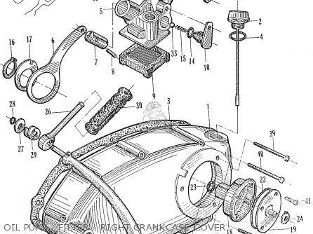Honda Ca95 Benly  Usa 1320003 Oil Pump - Filter - Right Crankcase Cover