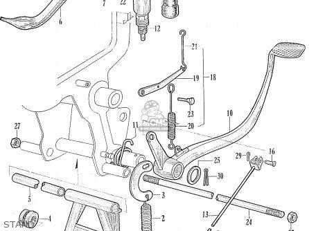 Honda Ca95 Benly  Usa 1320003 Stand