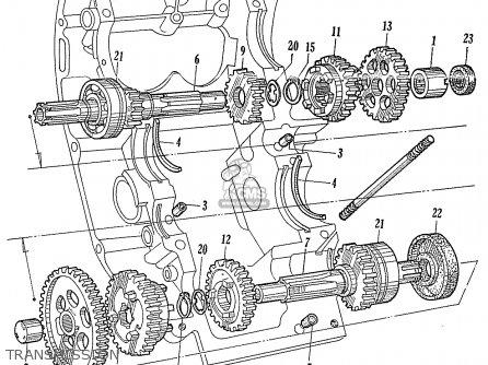 Honda Ca95 Benly  Usa 1320003 Transmission