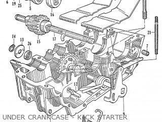 Honda Ca95 Benly  Usa 1320003 Under Crankcase - Kick Starter