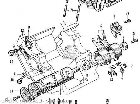 Honda Ca95 Benly  Usa 1320003 Upper Crankcase - Shift Drum