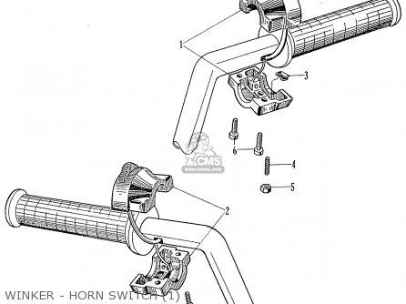 Honda Ca95 Benly  Usa 1320003 Winker - Horn Switch 1