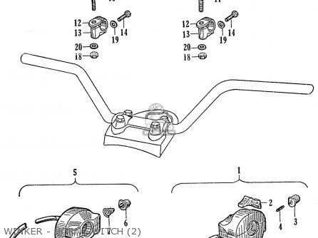 Honda Ca95 Benly  Usa 1320003 Winker - Horn Switch 2