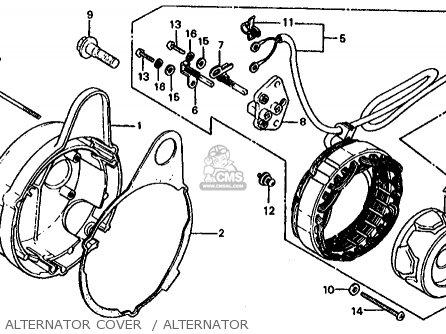 Honda Cb1000c 1000 Custom 1983 d Usa Alternator Cover    Alternator