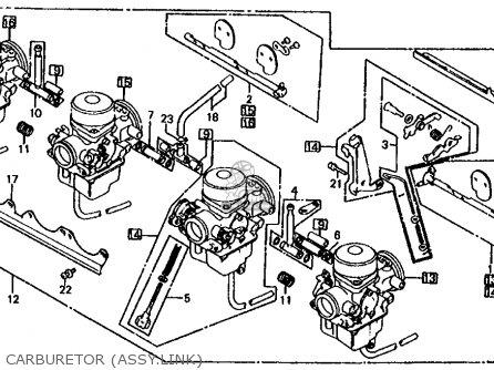 Honda Cb1000c 1000 Custom 1983 d Usa Carburetor assy link