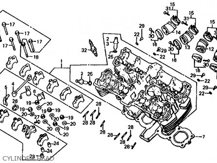 honda cb1000c 1000 custom 1983 (d) usa cylinder head  cylinder head  honda  cb1000c