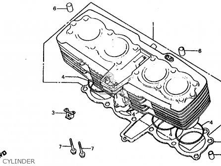 Honda Cb1000c 1000 Custom 1983 d Usa Cylinder