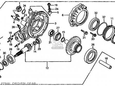 Honda Cb1000c 1000 Custom 1983 d Usa Final Driven Gear