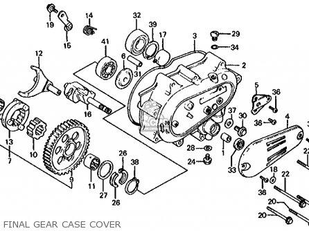 Honda Cb1000c 1000 Custom 1983 d Usa Final Gear Case Cover