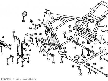 Honda Cb1000c 1000 Custom 1983 d Usa Frame   Oil Cooler