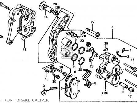 Honda Cb1000c 1000 Custom 1983 d Usa Front Brake Caliper