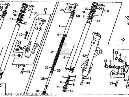 Honda Cb1000c 1000 Custom 1983 d Usa Front Shock Asborber