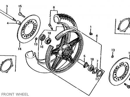 Honda Cb1000c 1000 Custom 1983 d Usa Front Wheel