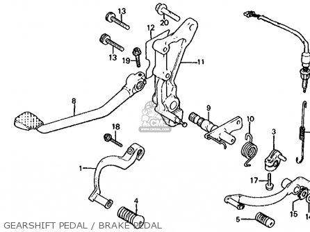Honda Cb1000c 1000 Custom 1983 d Usa Gearshift Pedal   Brake Pedal