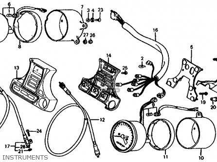 Honda Cb1000c 1000 Custom 1983 d Usa Instruments