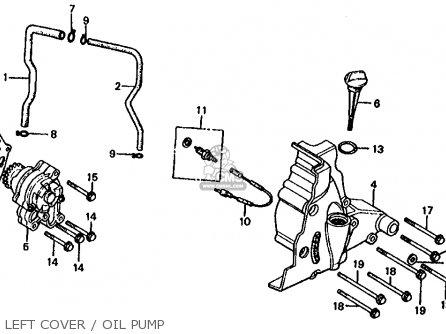 Honda Cb1000c 1000 Custom 1983 d Usa Left Cover   Oil Pump