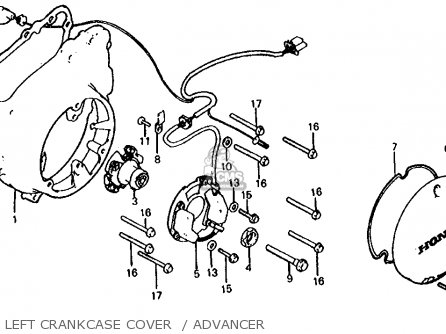 Honda Cb1000c 1000 Custom 1983 d Usa Left Crankcase Cover    Advancer